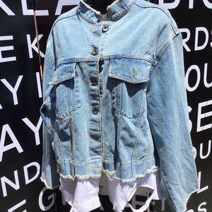 Jackets & Blazers - Jean jacket with t-shirt bottom